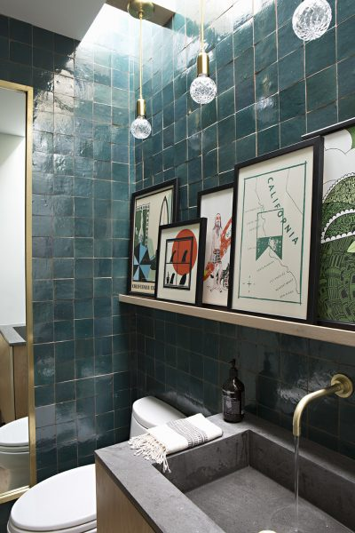 Green square sustainable tile