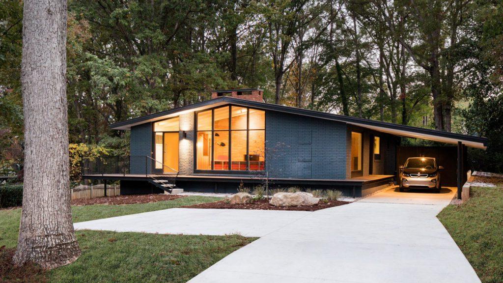 mid century modern home Ocotea House